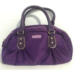 Victoria's Secret Bags - 💜 VS Deep Purple $ Satin Mini Wristbag